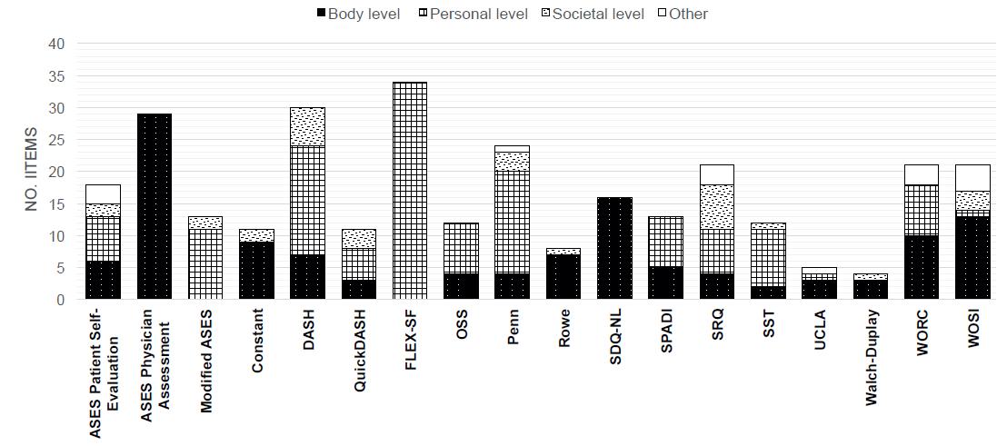 ICF nivåer i skjemaene